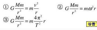 万有引力等于向心力公式